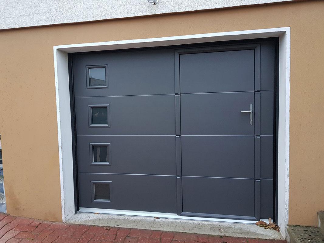 Habitat fermetures portes de garages - Pose d une porte de garage sectionnelle motorisee ...